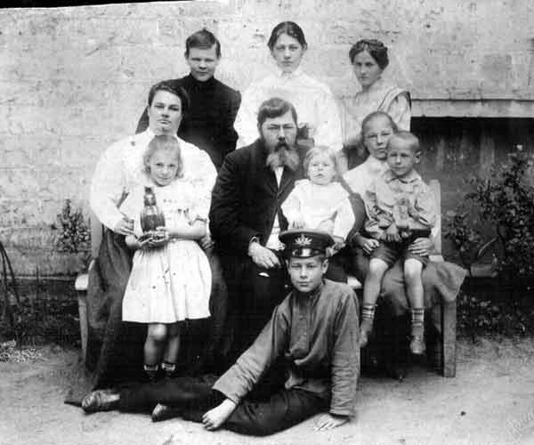 Семья Шелепиных в Гатчине,1908 год
